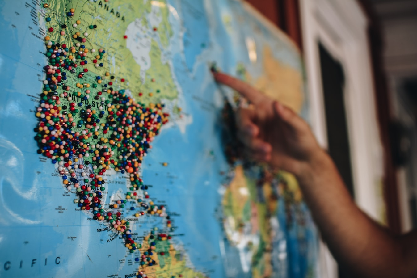 Head of Remote Work coordinating locations on a map
