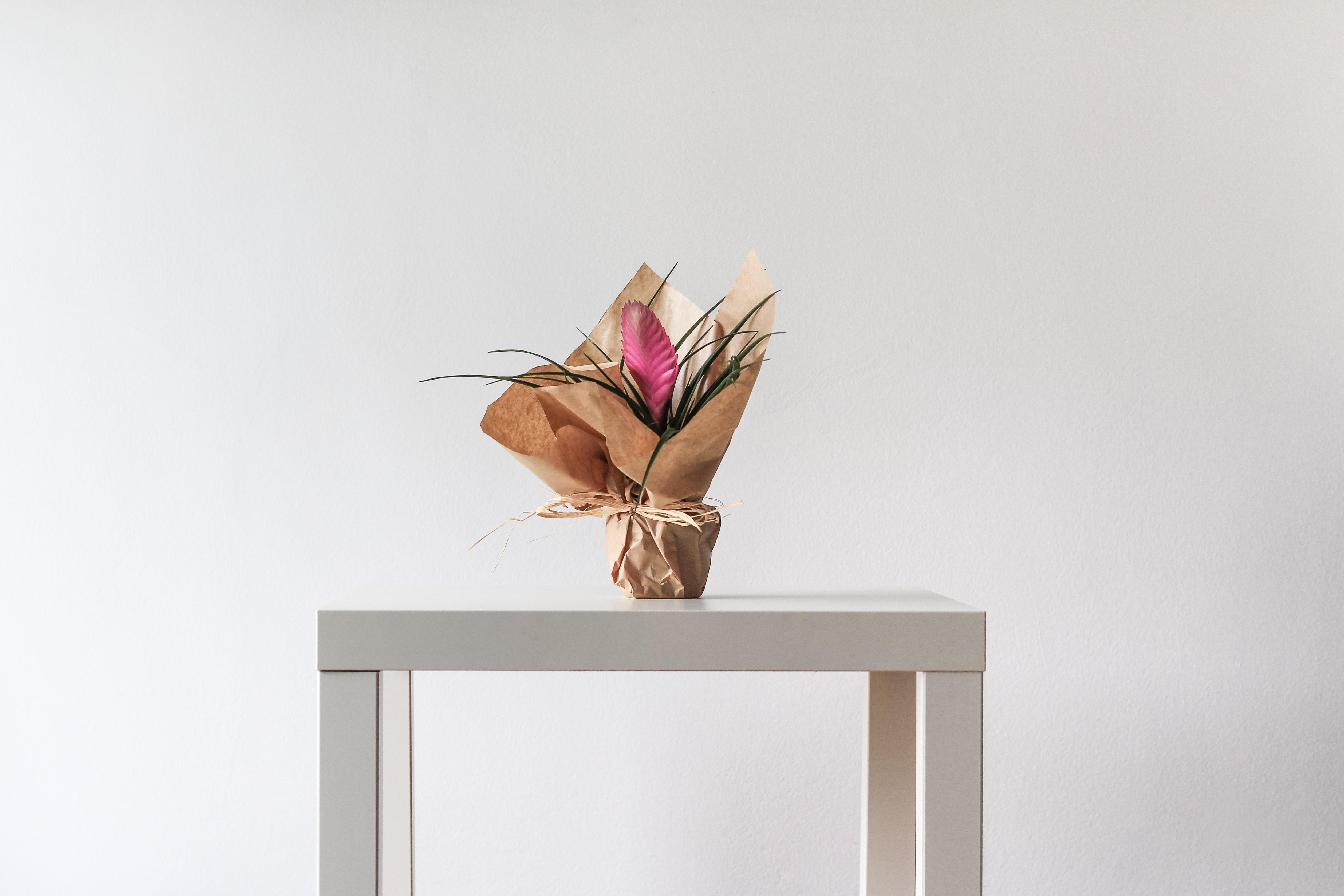 flower arrangement on table
