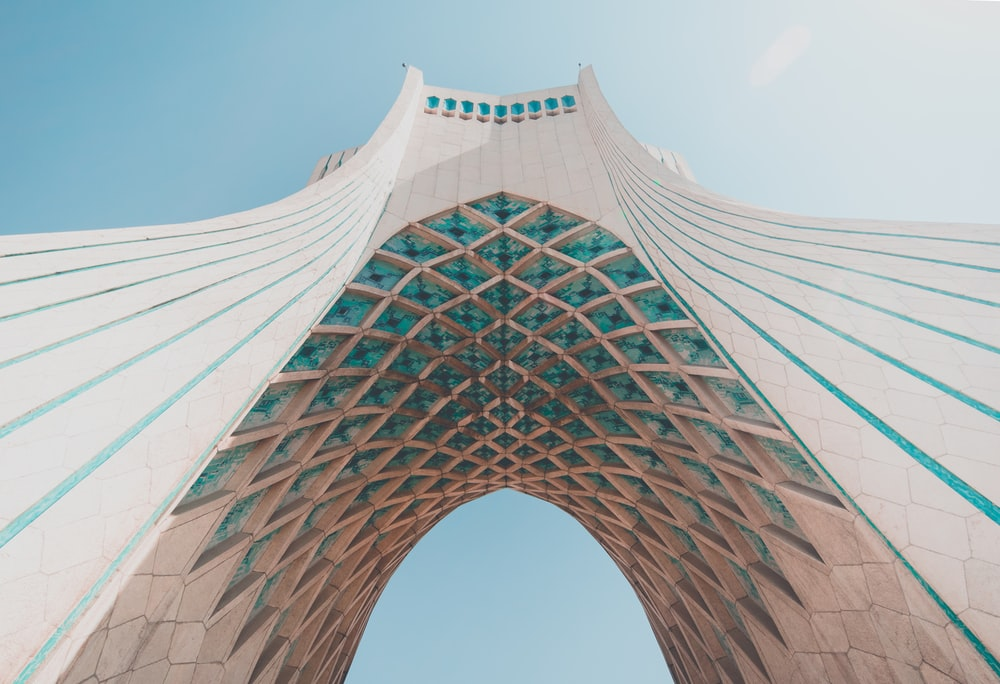 low angle photography of concrete structure