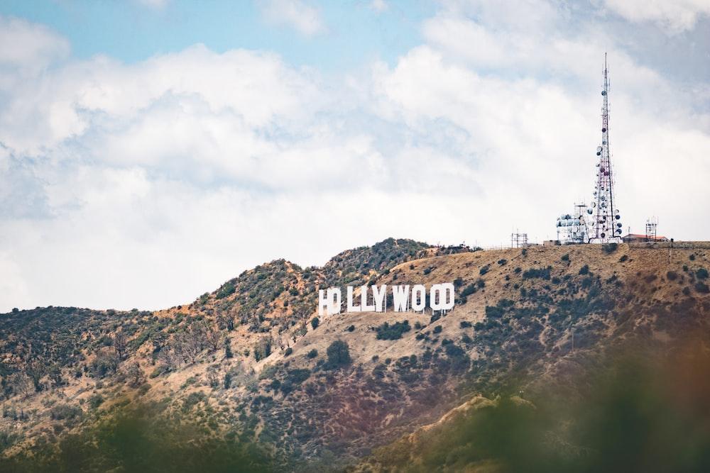 landscape photography of Hollywood signage