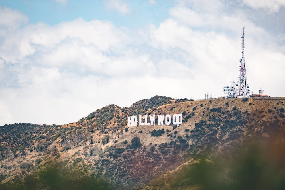 landscape photography of Hollywood signage