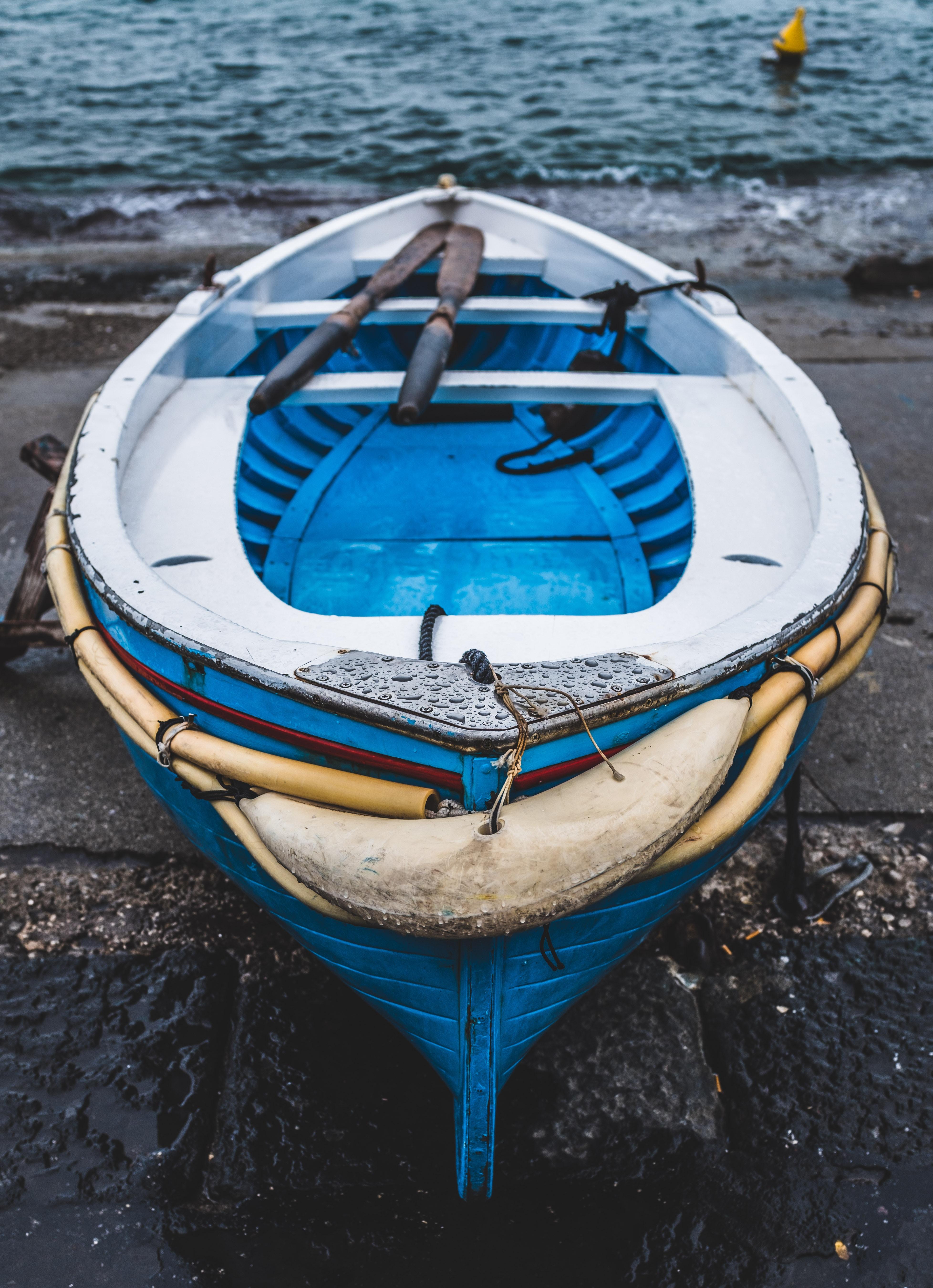 canoe on seashore