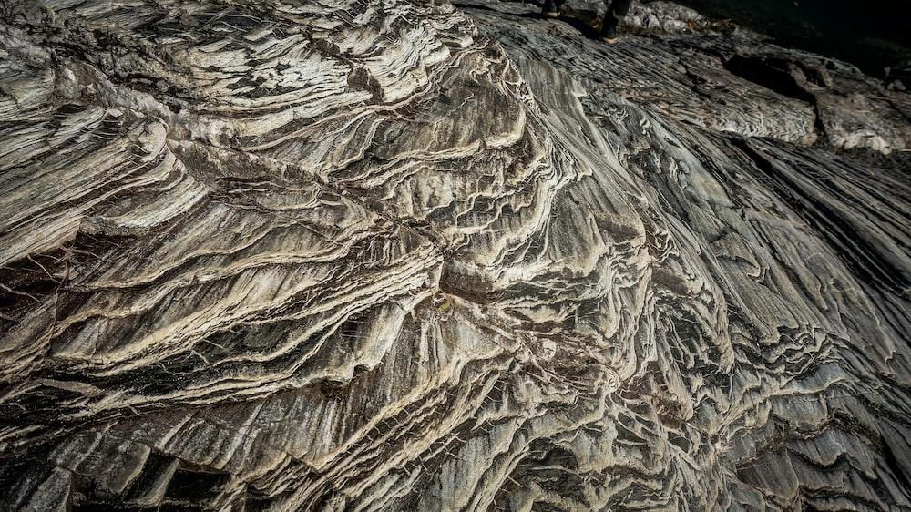 brown rock formation digital art