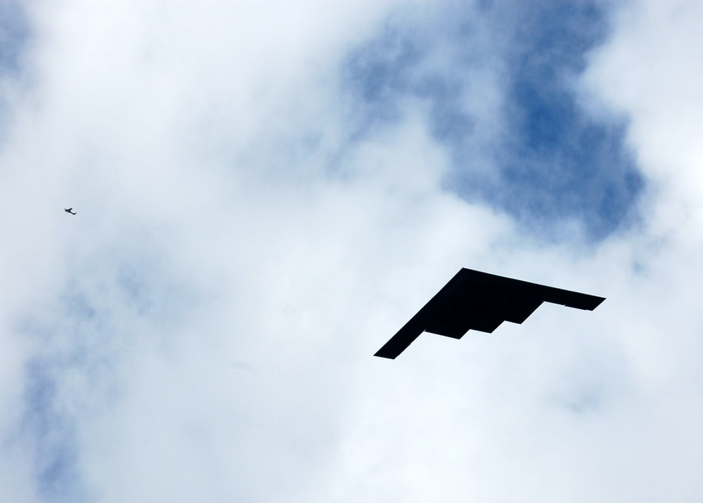 flying stealth plane during day