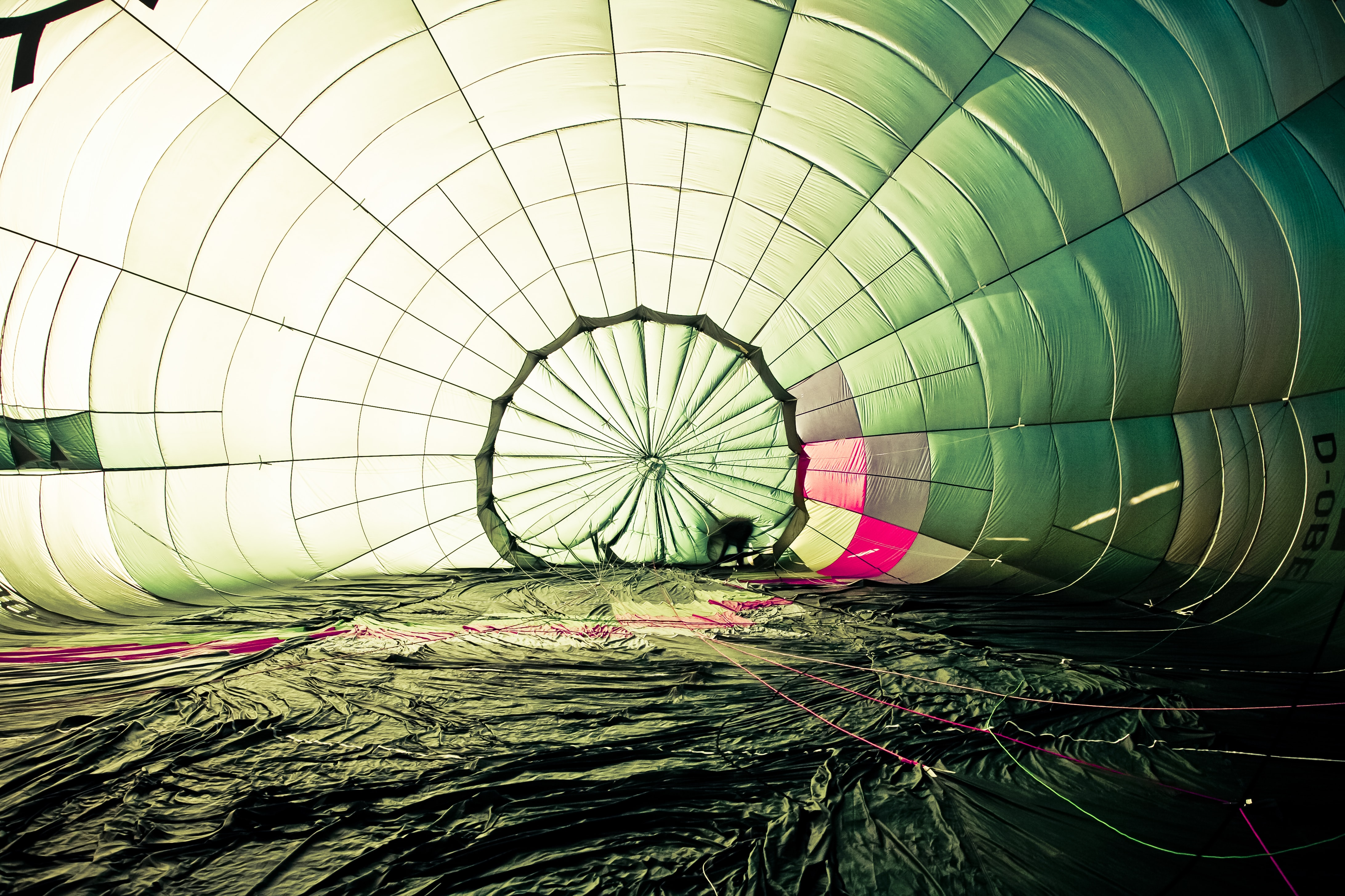 photography of hot air balloon on ground