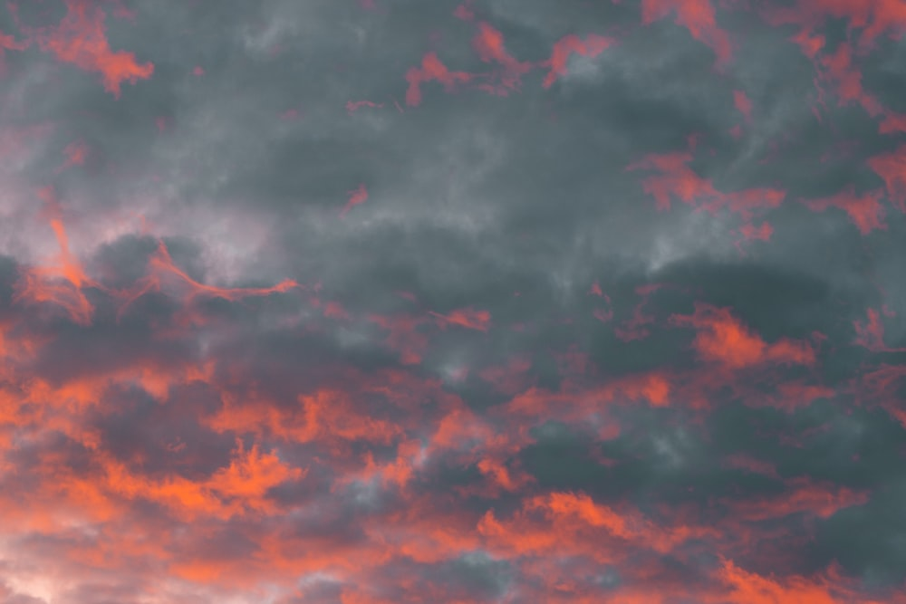 red and gray cloudy sky