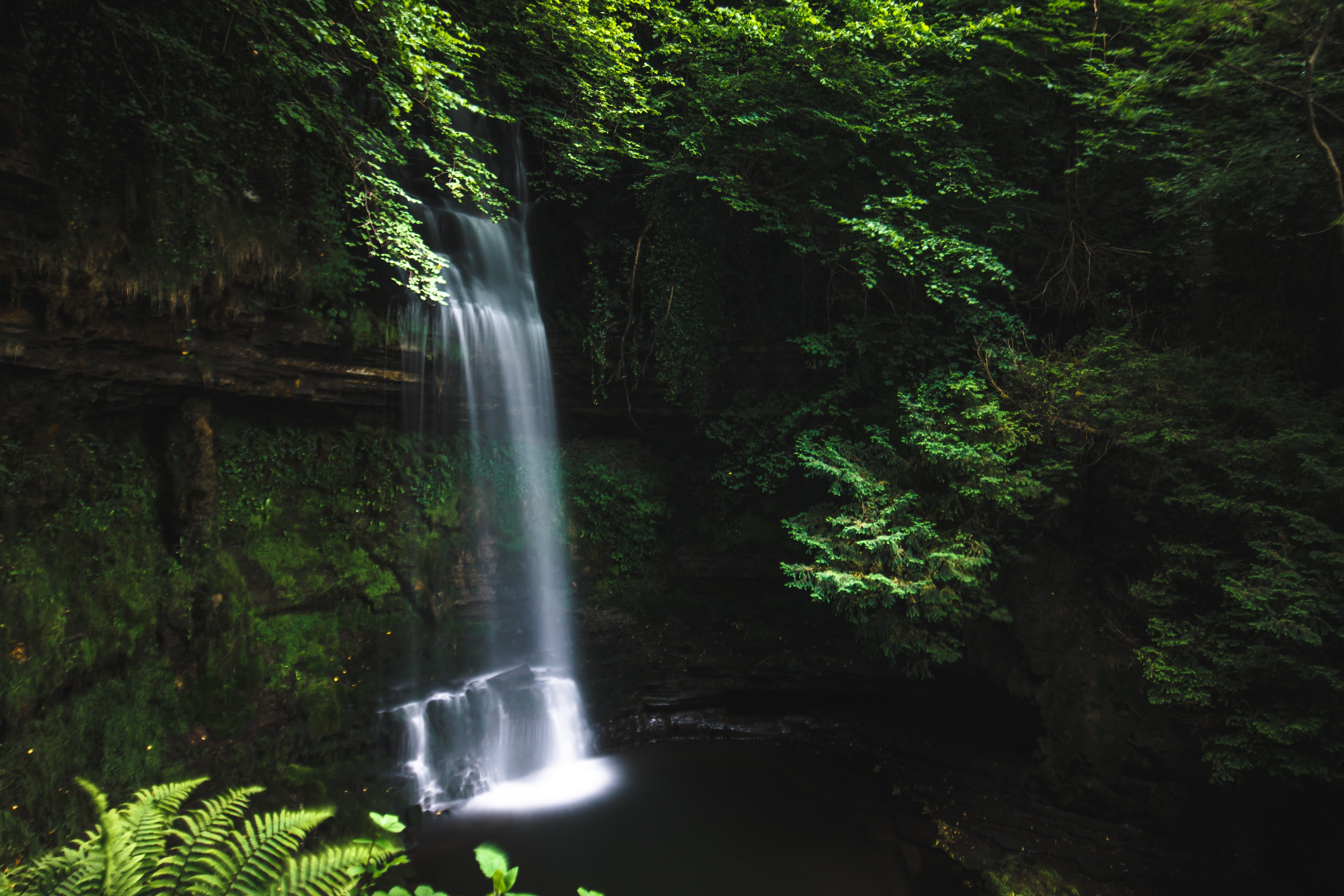 scenery of a waterfall