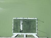 green basketball court board