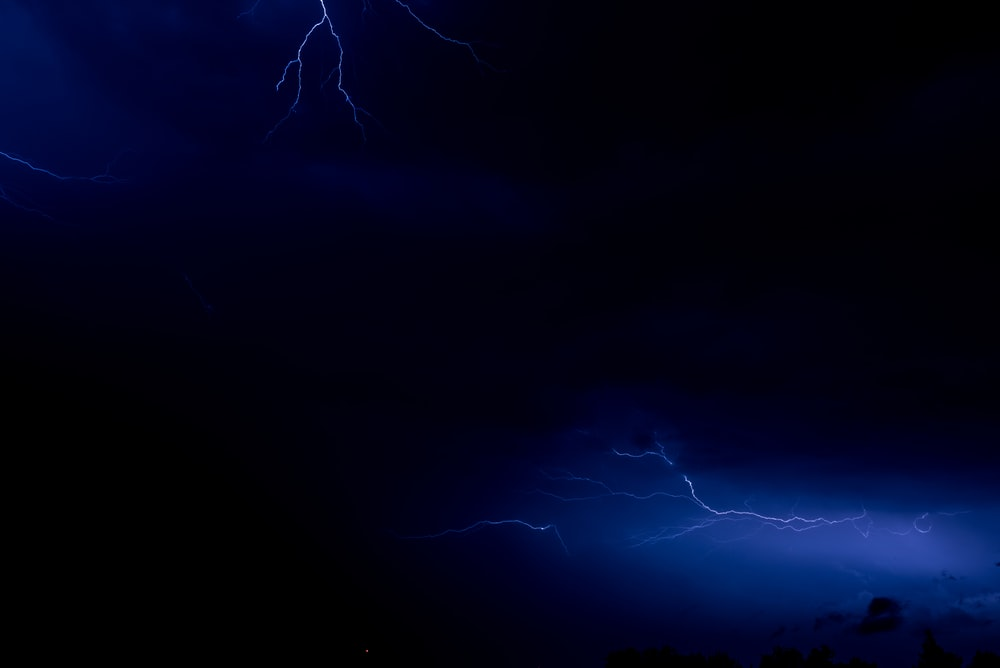 time lapse photography of lightning