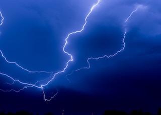 Lightning storm sky