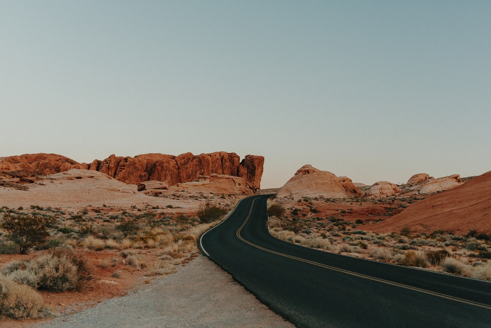 landscape photography of empty road