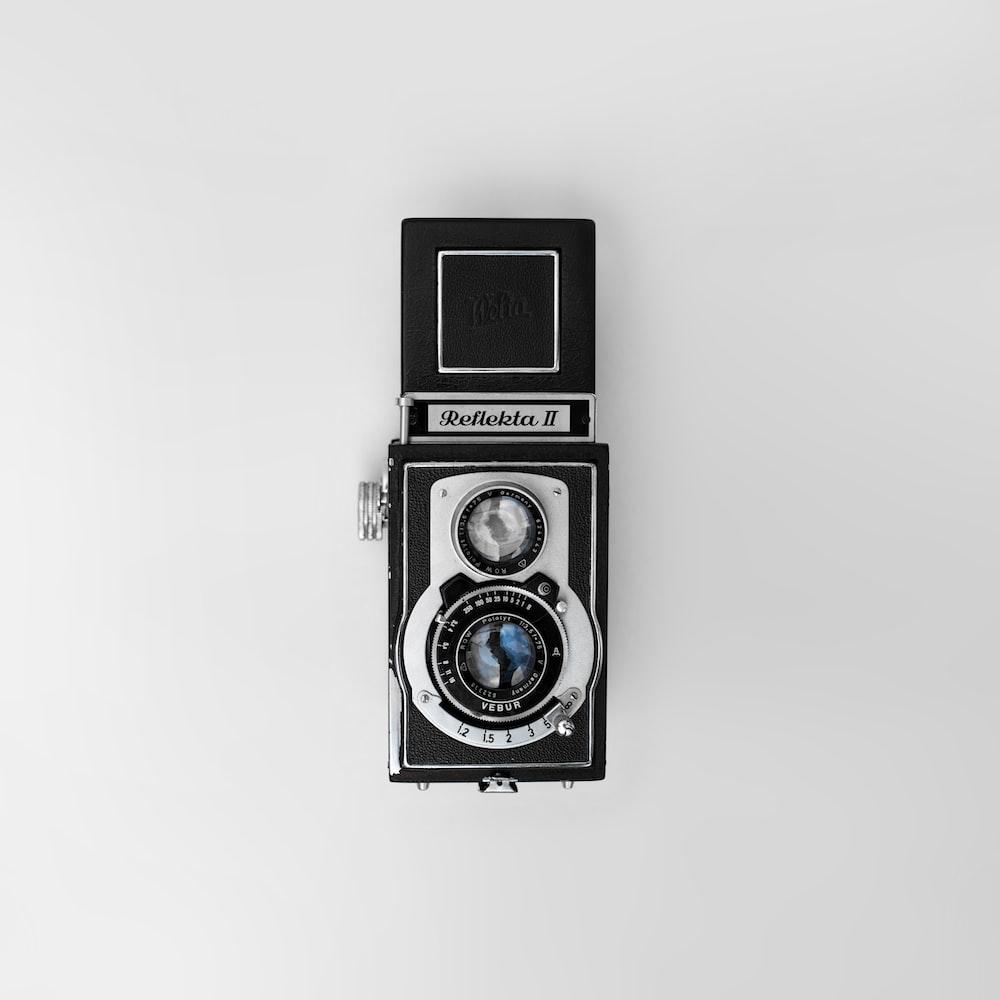 vintage black and gray Reflekta II camera