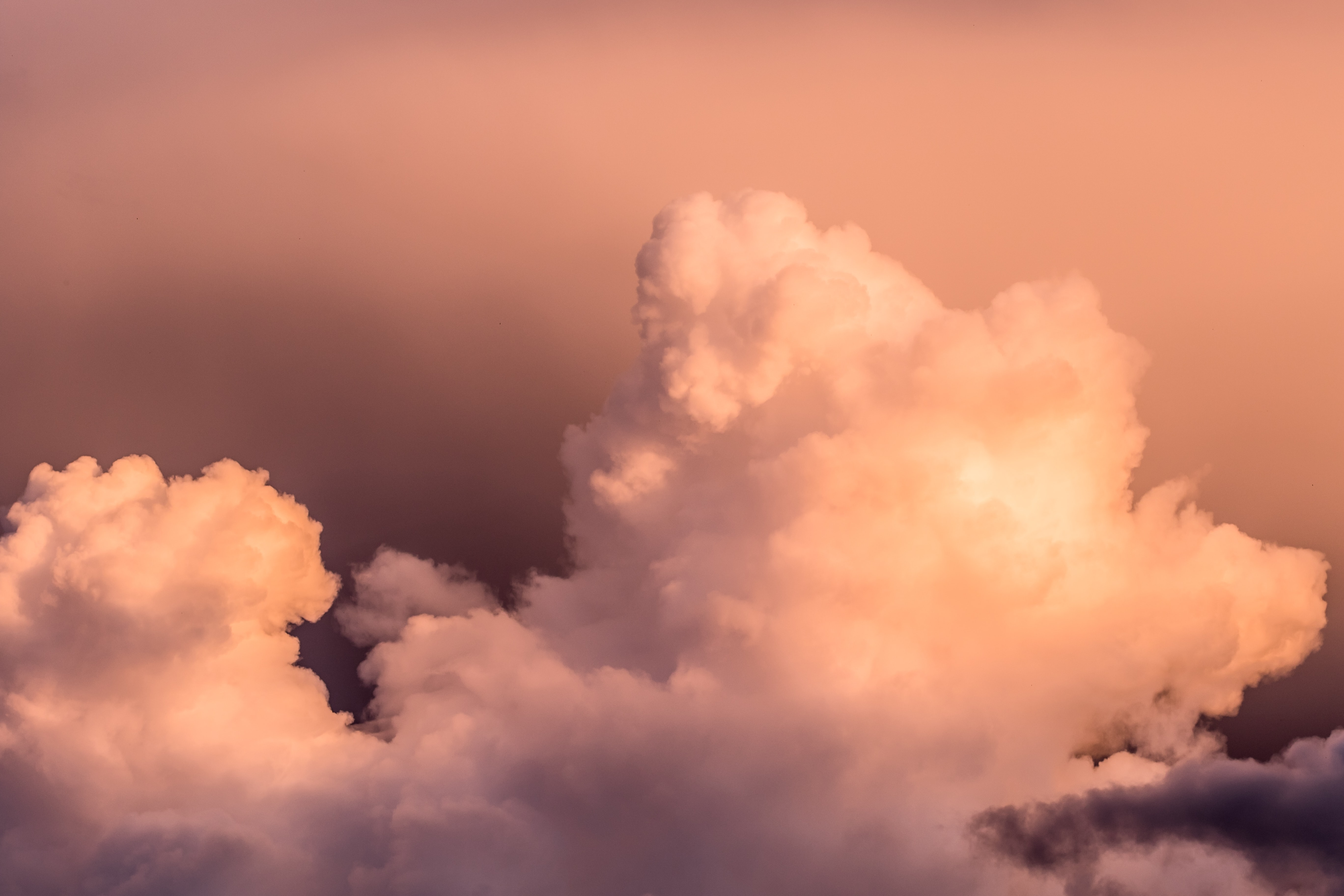 white clouds during sunset