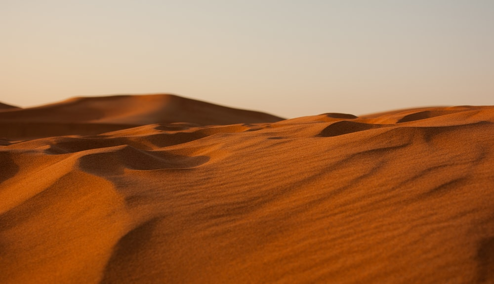 landscape photography of empty desert