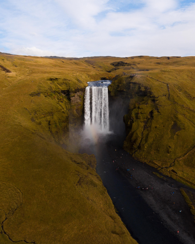landscape shot of water falls