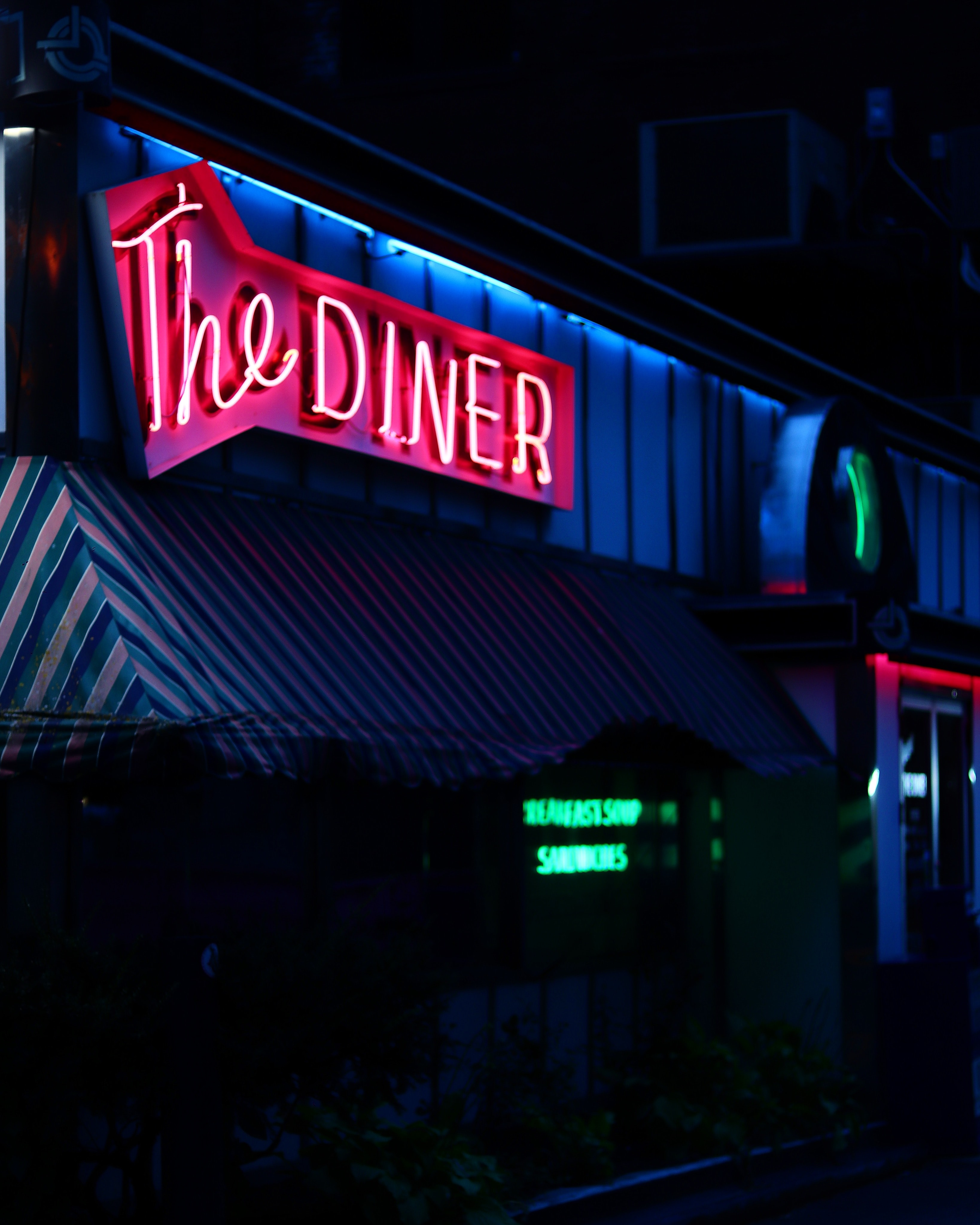 The Diner neon light signage