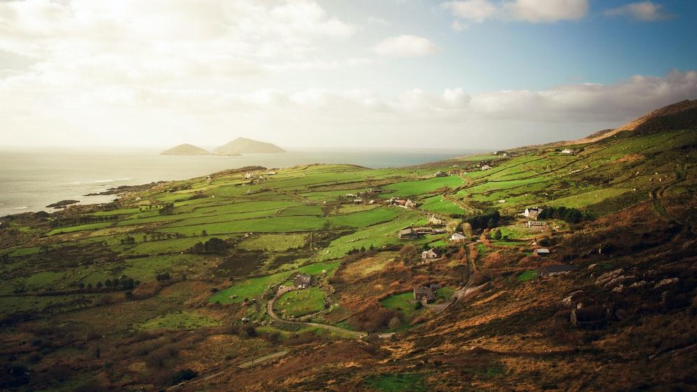 aerial photo of plains