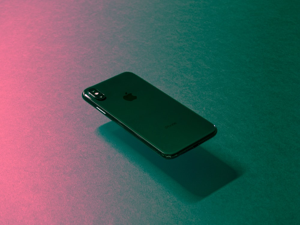 black iPhone X