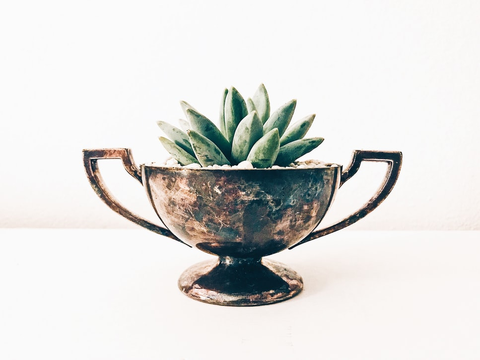 Sterling Silver Vase Rust