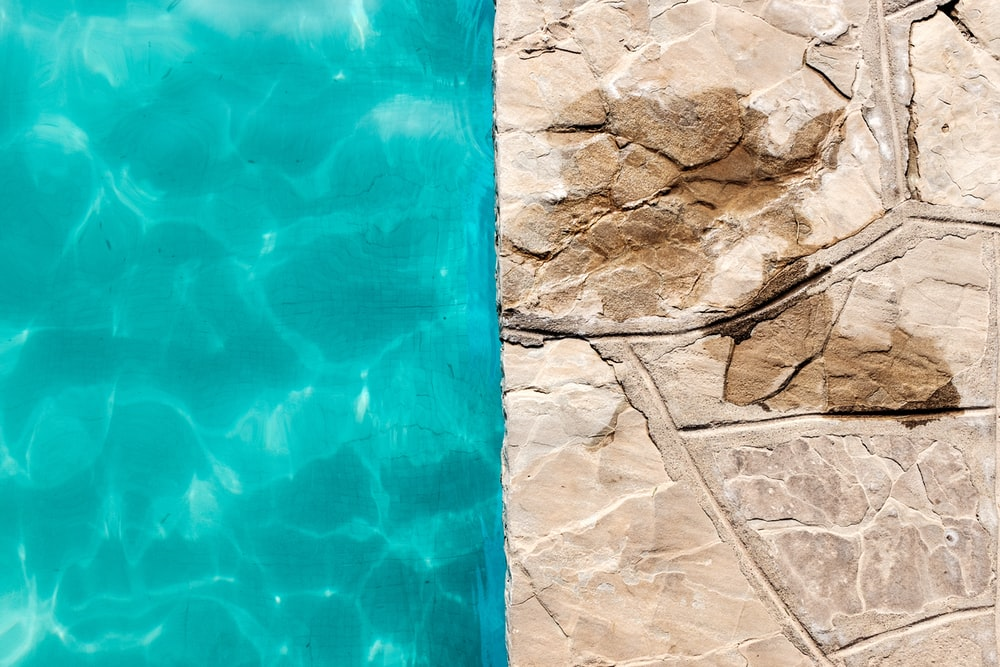 too closed photography of swimming pool