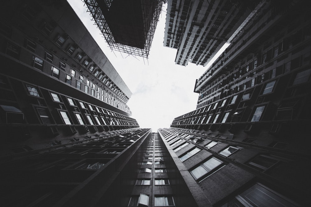 worms eyeview of building