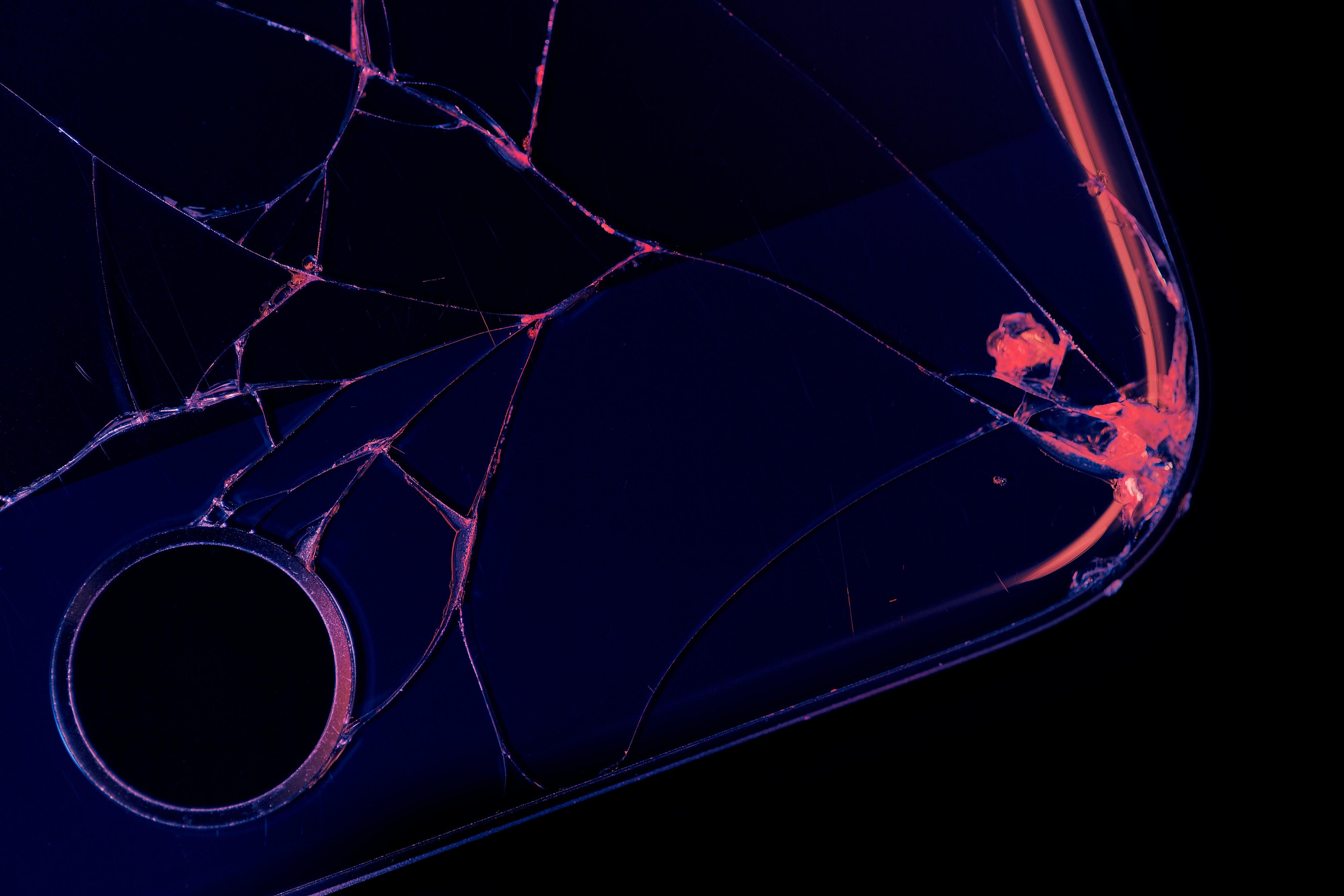 broken black smartphone
