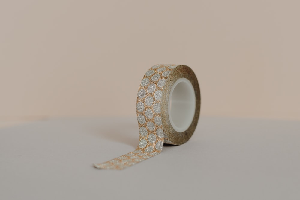 orange and gray floral tape