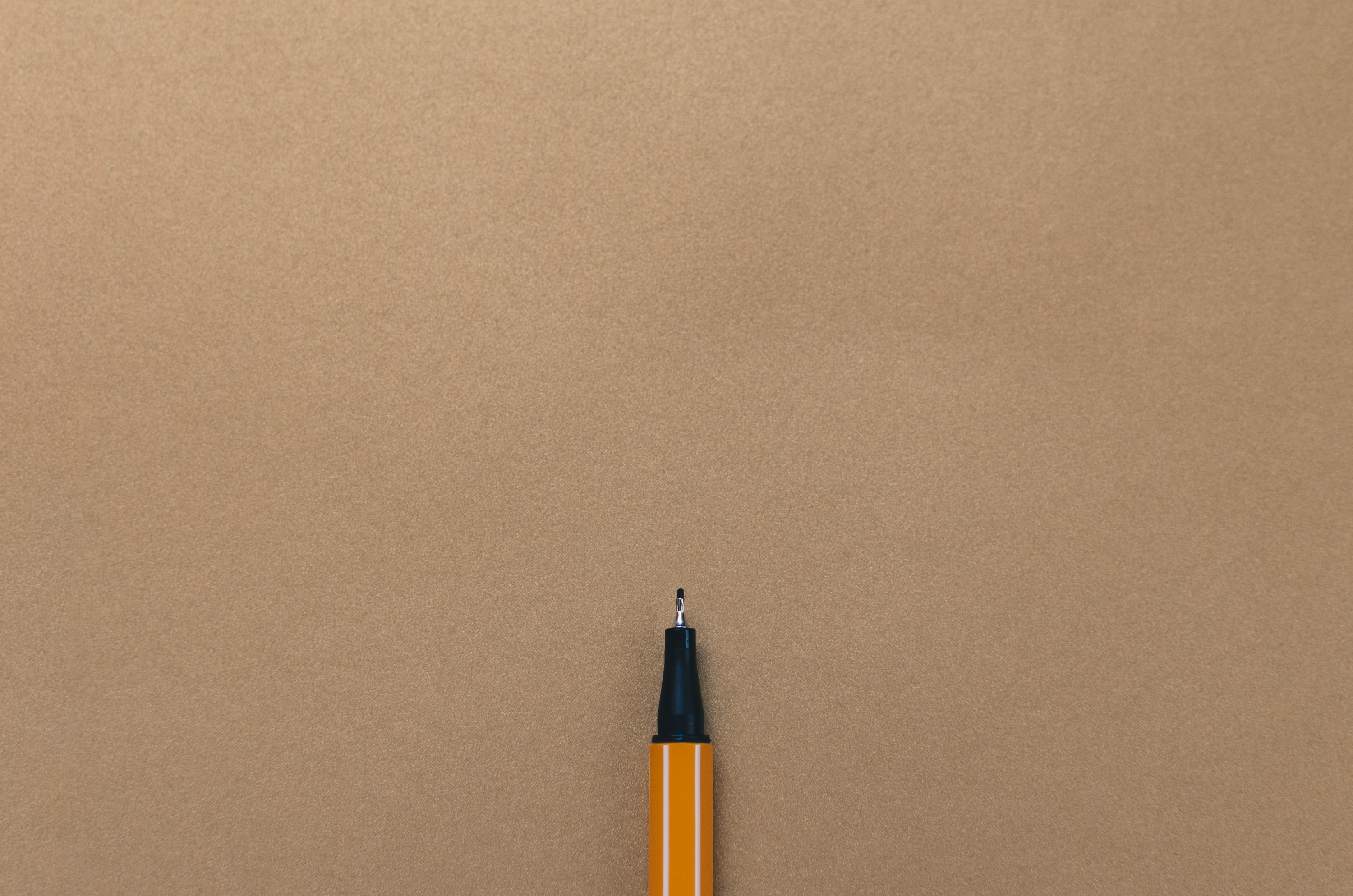 pen on brown board
