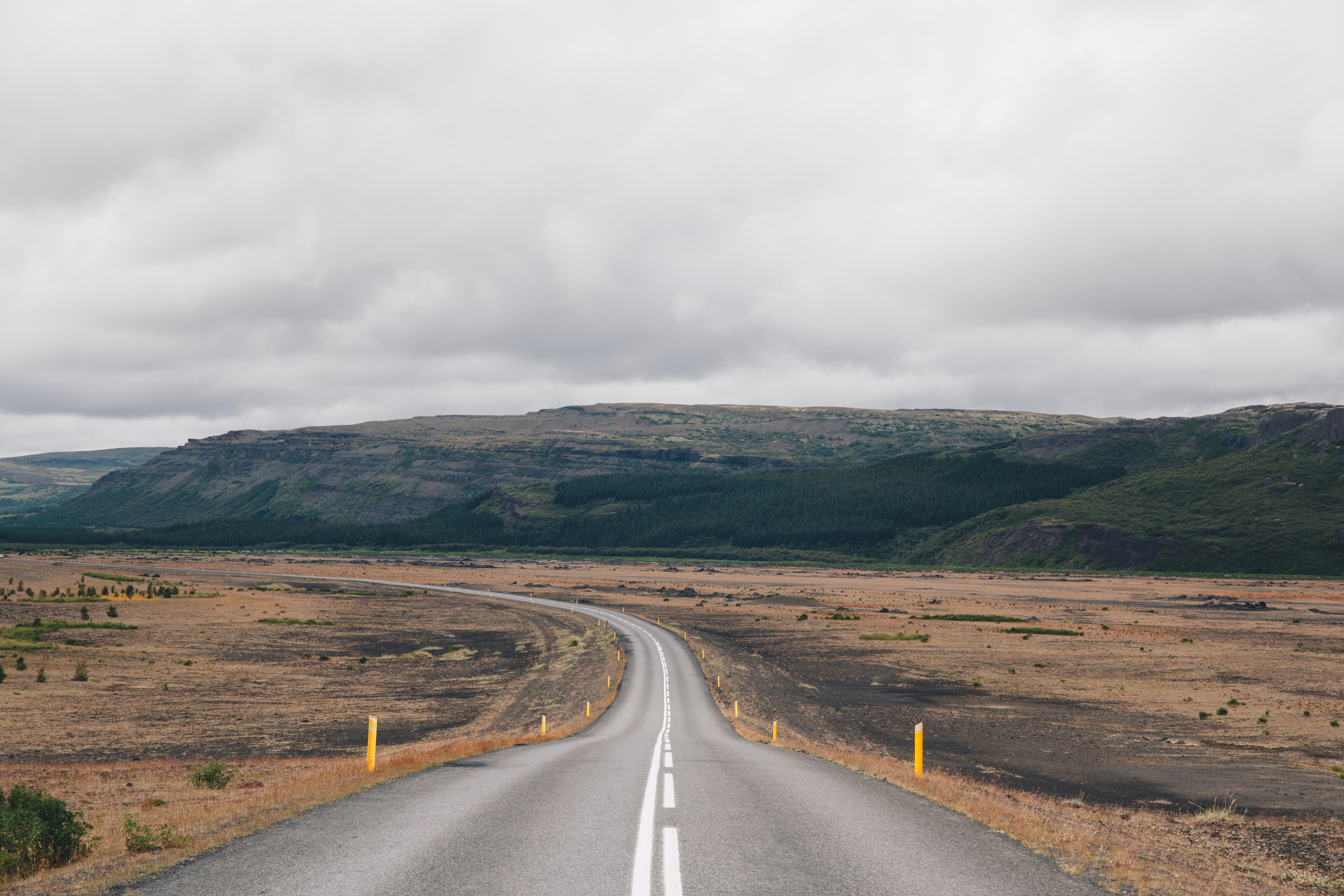 empty gray highway