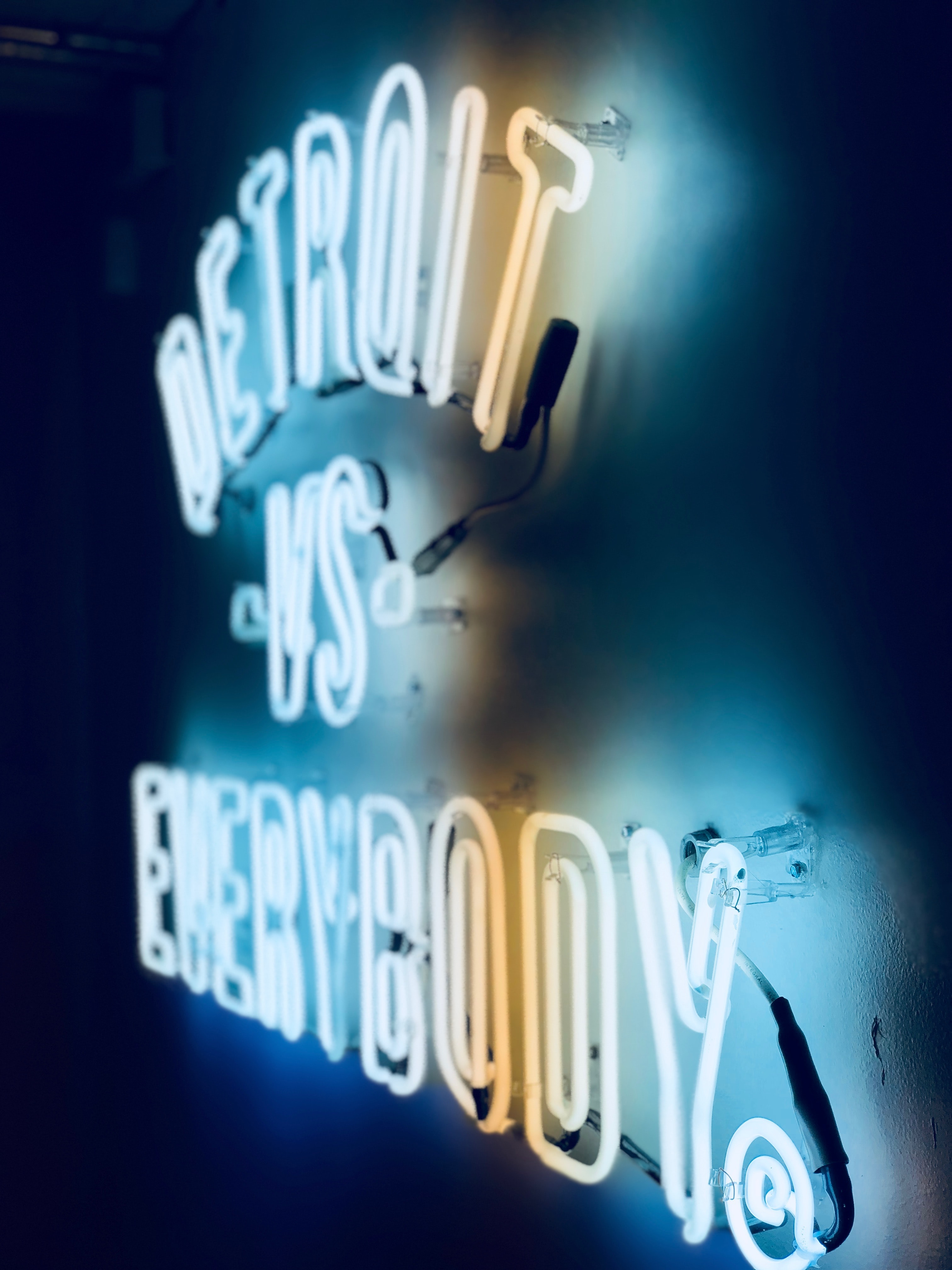 Detroit vs Everybody neon light signage
