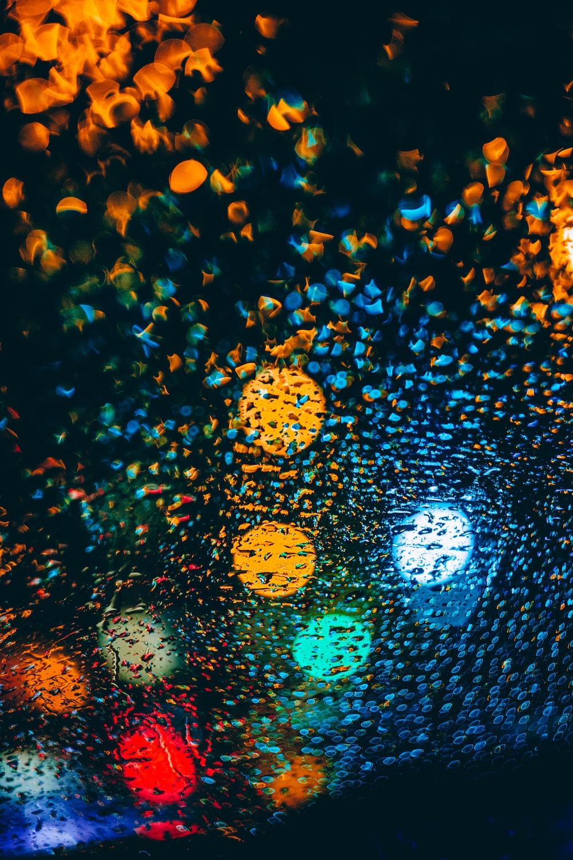 multicolored bokeh lights