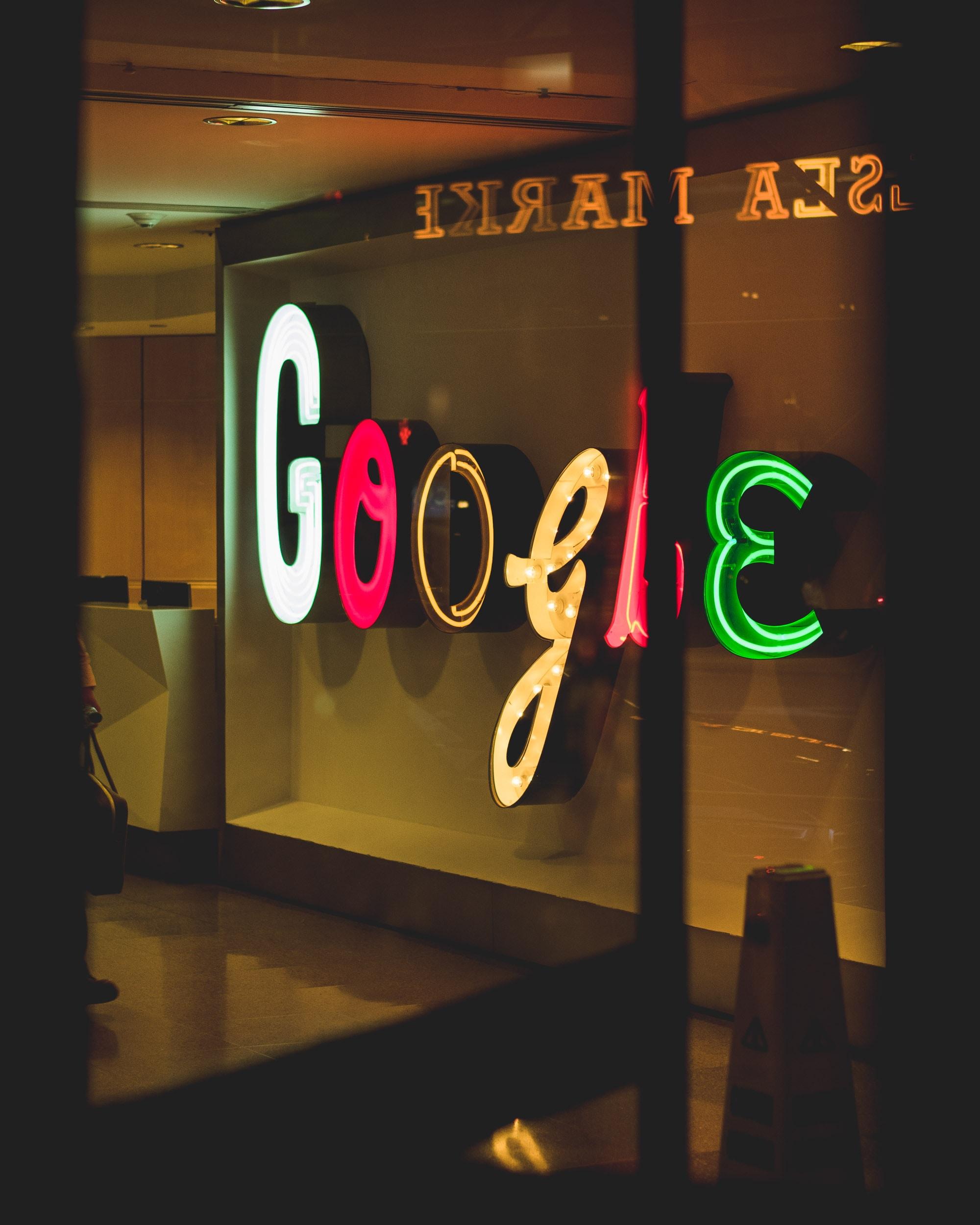 Google light signage
