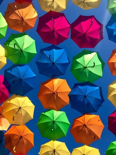 assorted-colored umbrellas