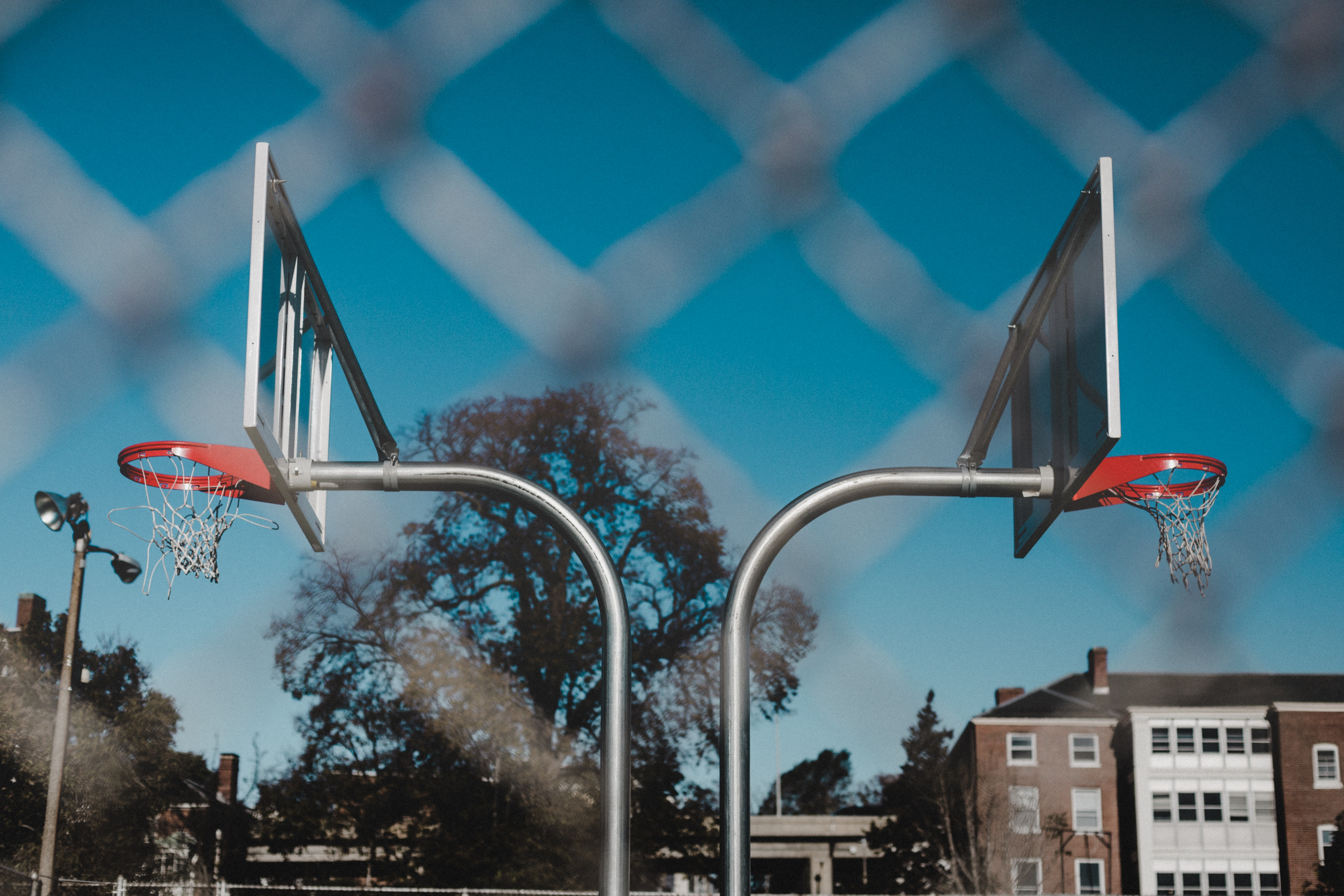 two basketball system