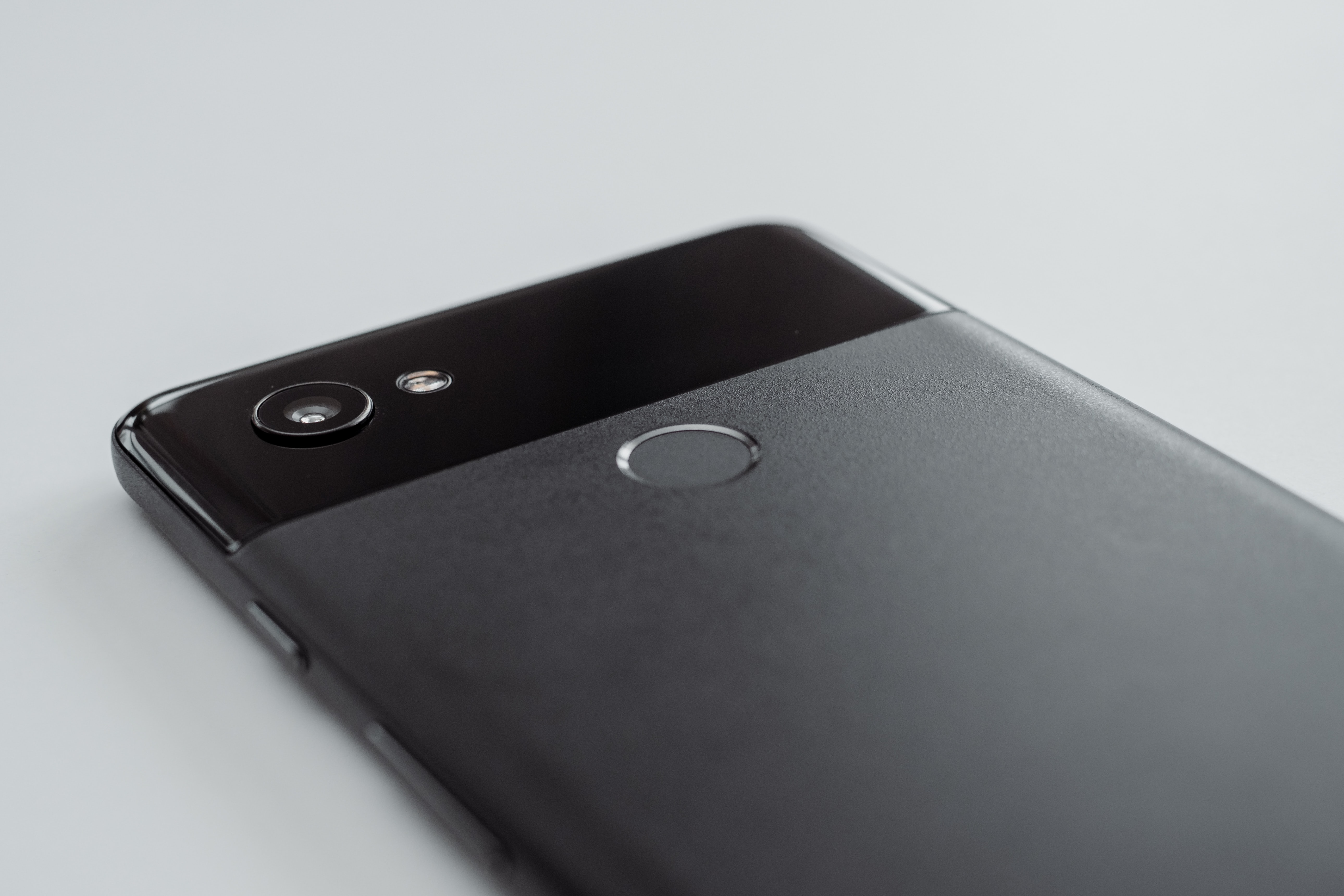 gray Android smartphone