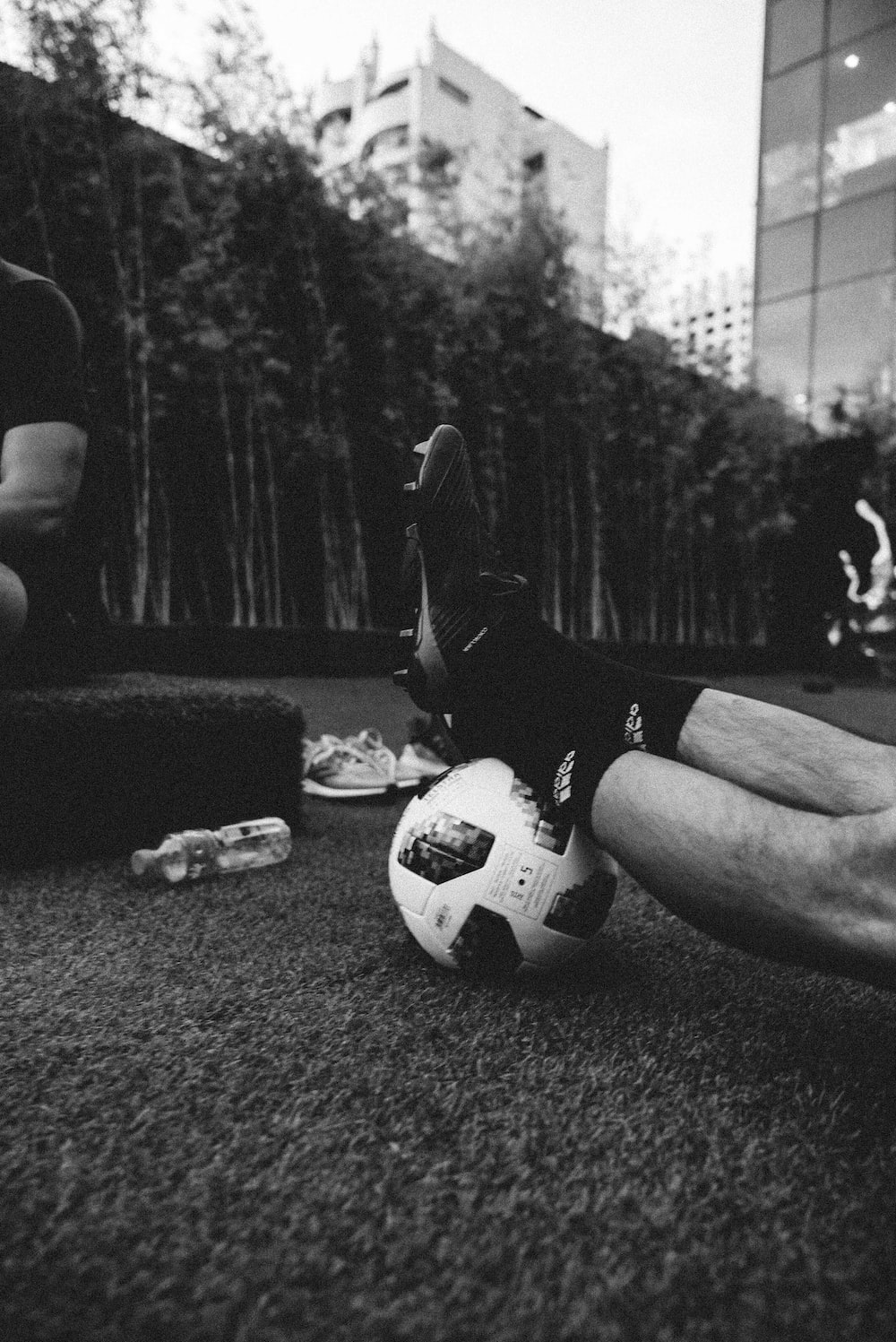 Football boots pictures download free images on unsplash gray scale photo of a persons feet on a football thecheapjerseys Gallery