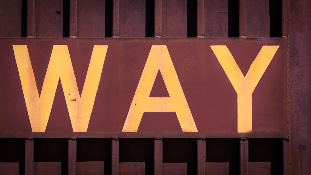 way wall signage