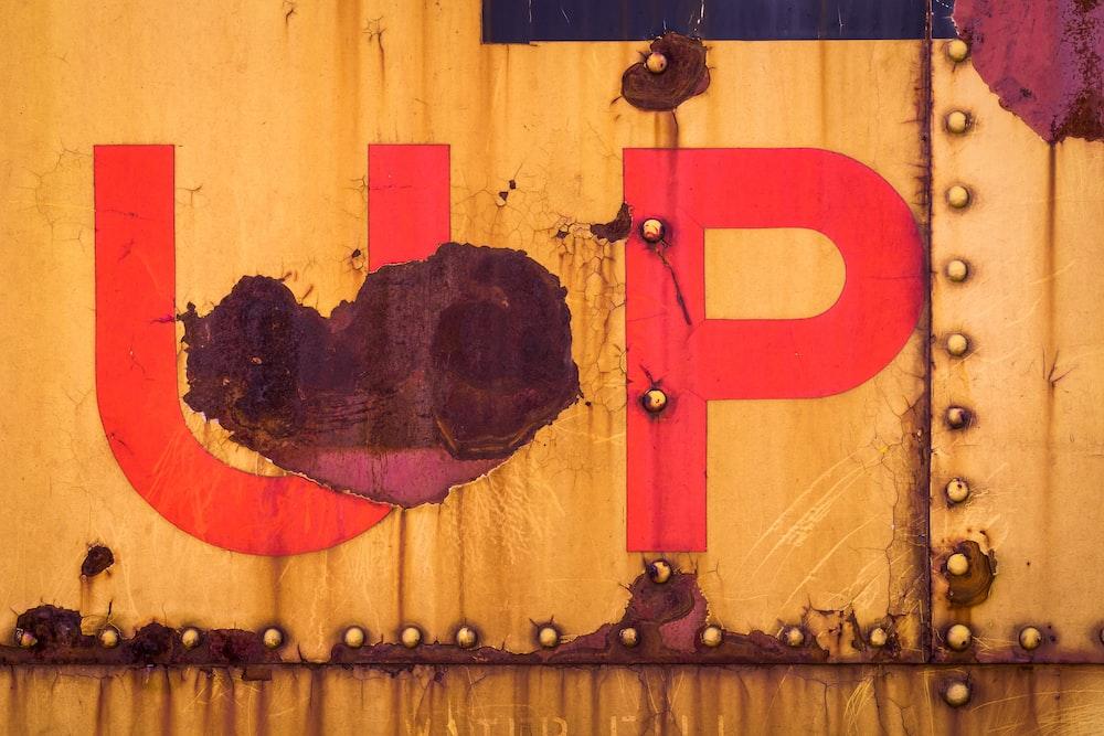 UP paint signage
