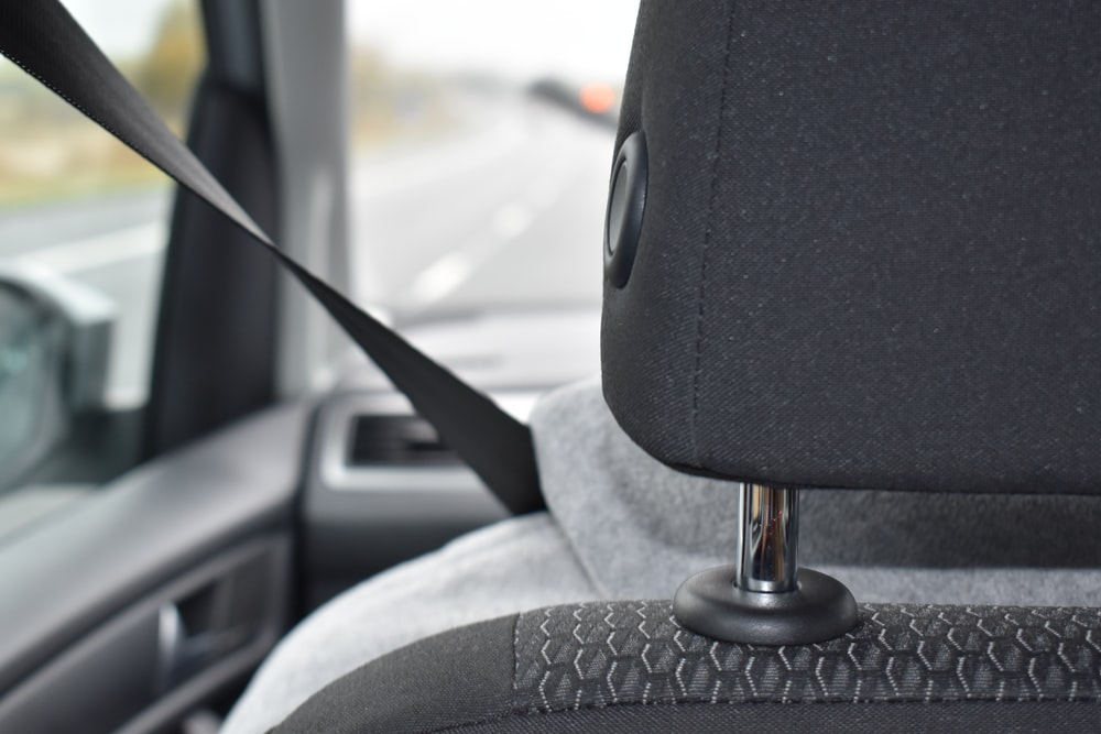 black car headrest