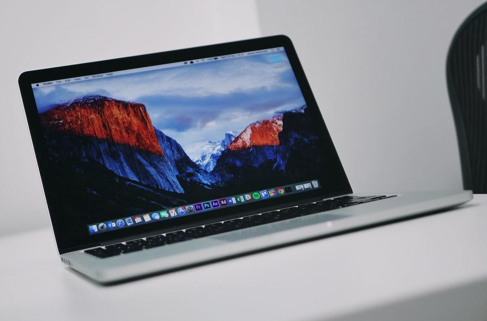 turned on MacBook