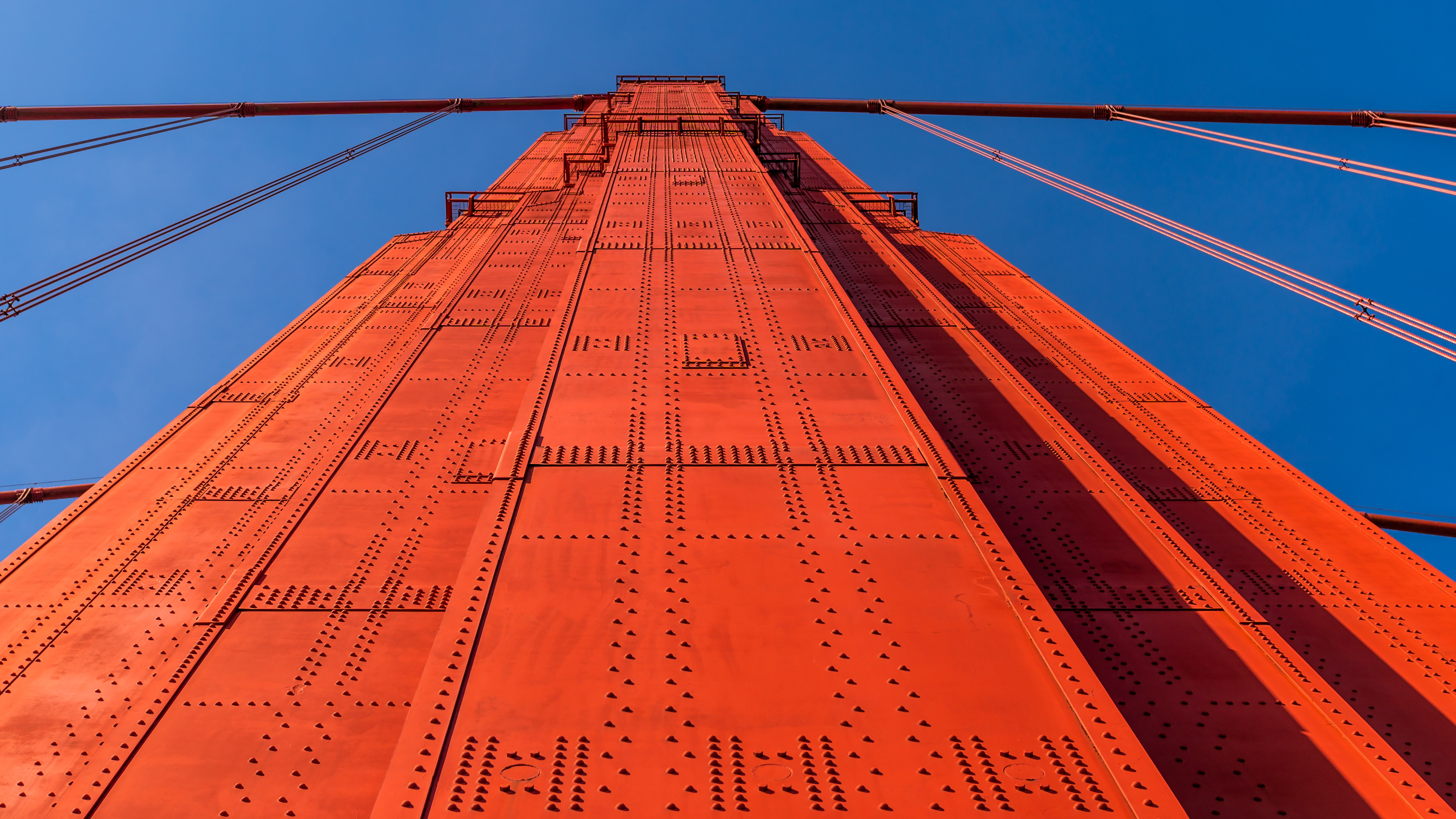 low angle photography of orange high rise building