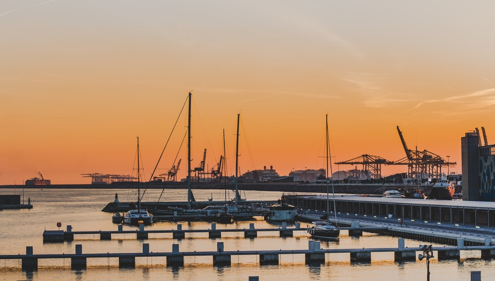 photography of boat docks