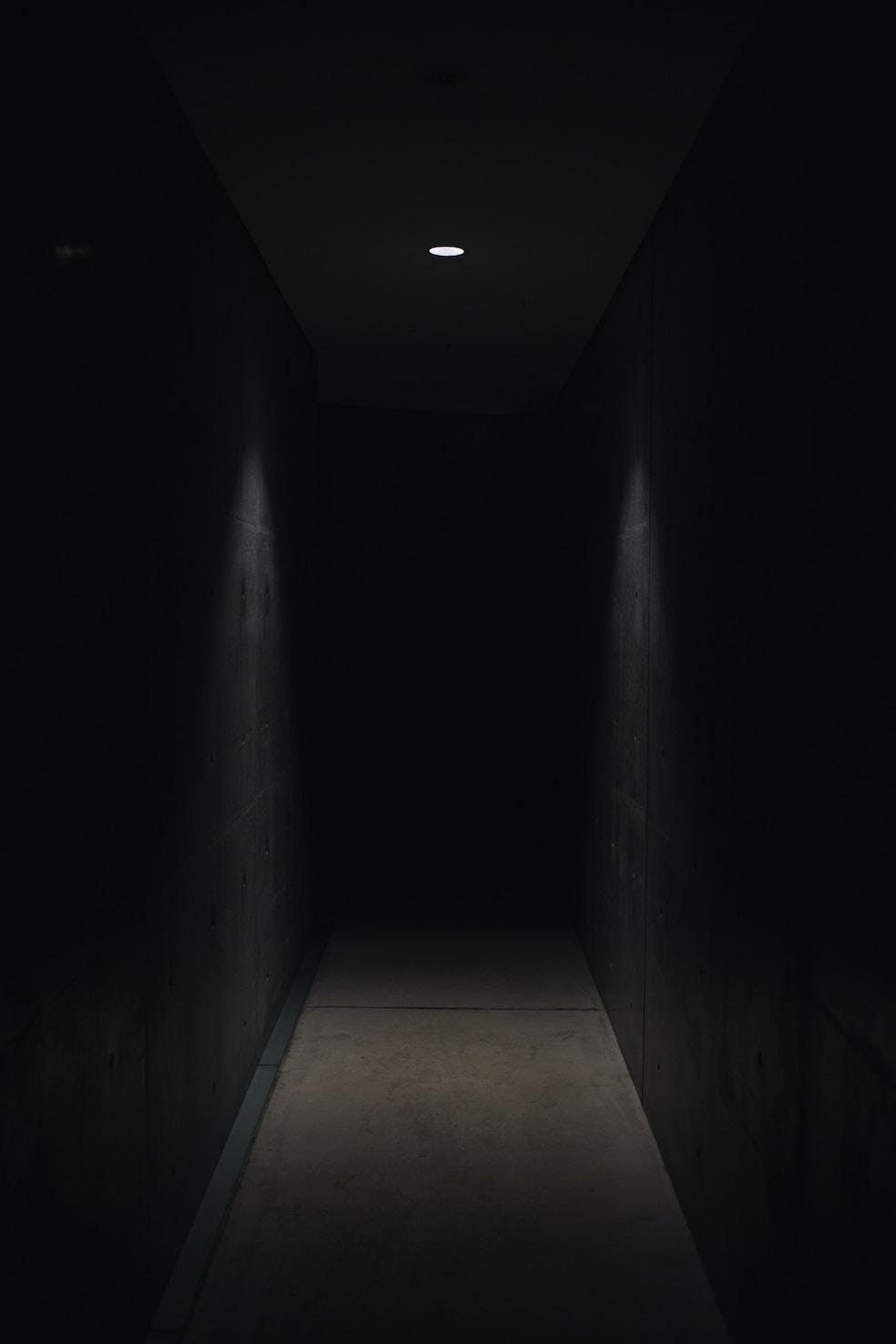dark matter lit with small light fixture
