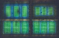 sports field illustration with text overlay