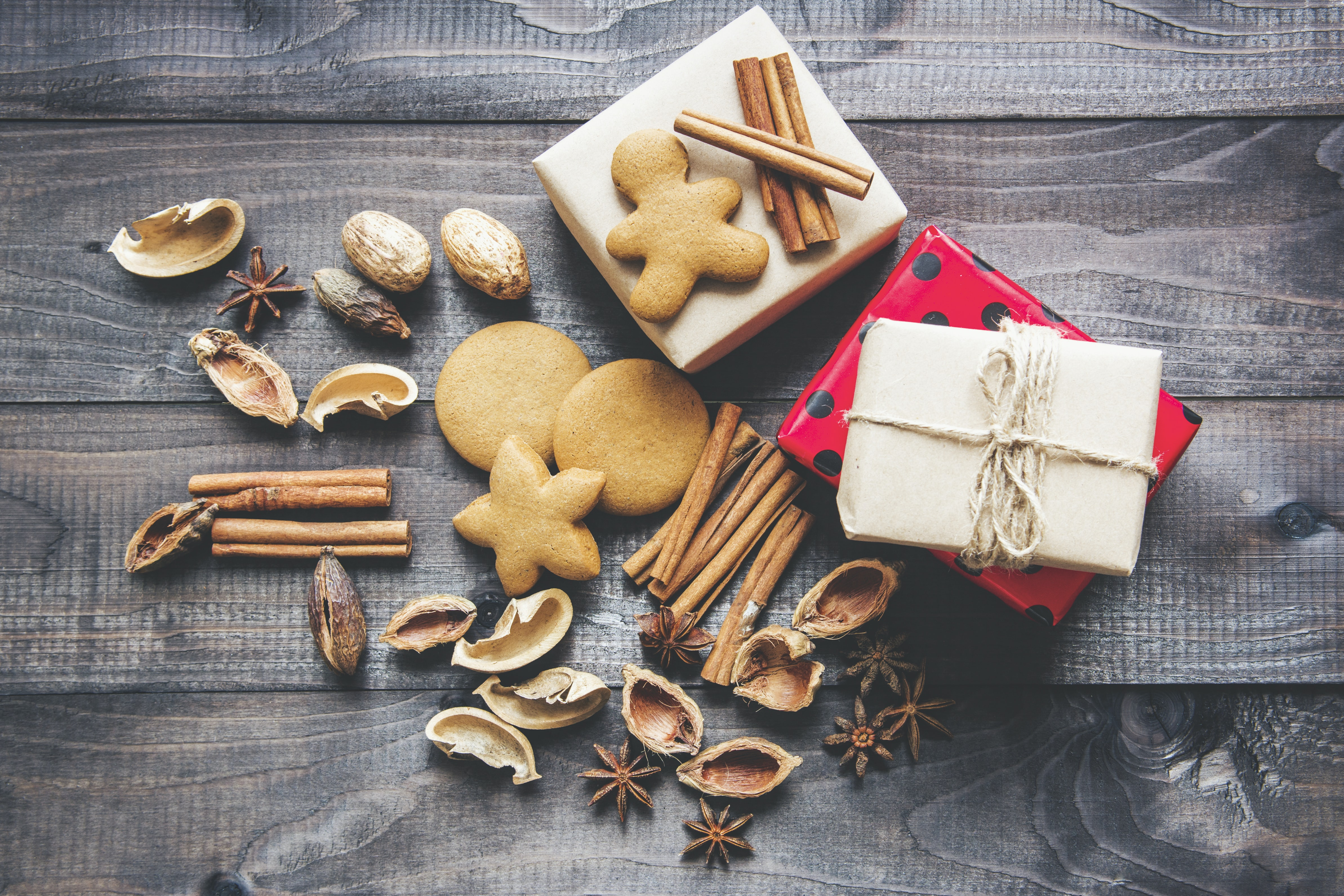 cookies biscuits box and string hd photo by mira bozhko