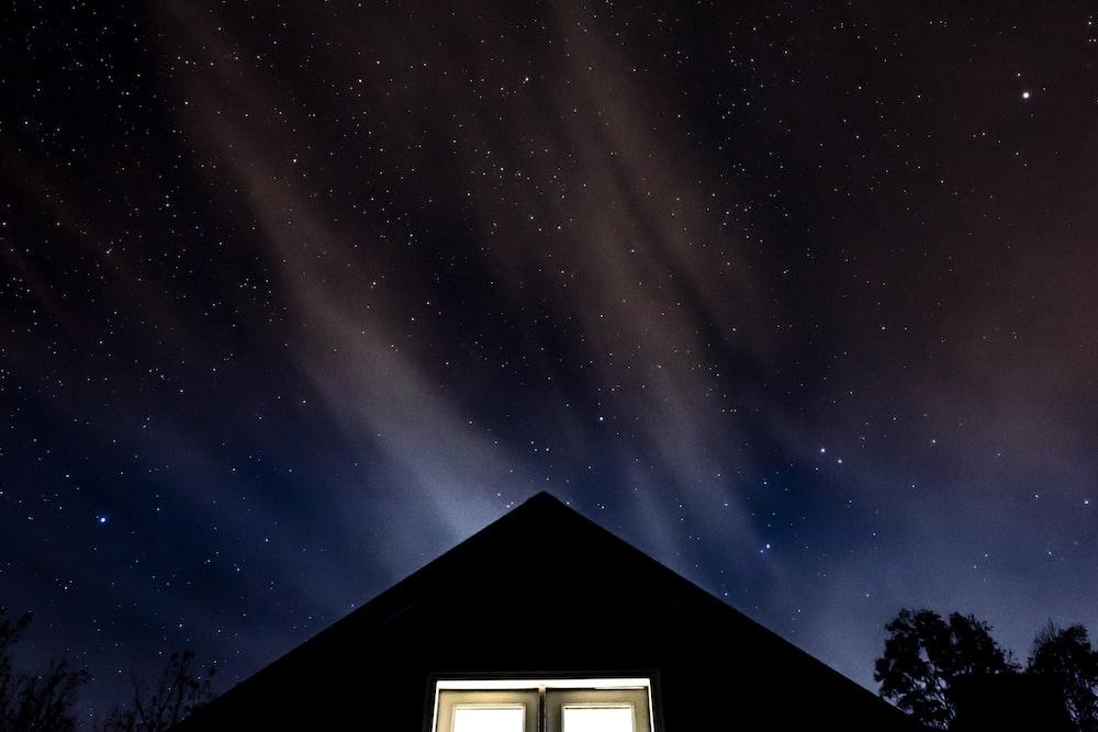 house under dark sky