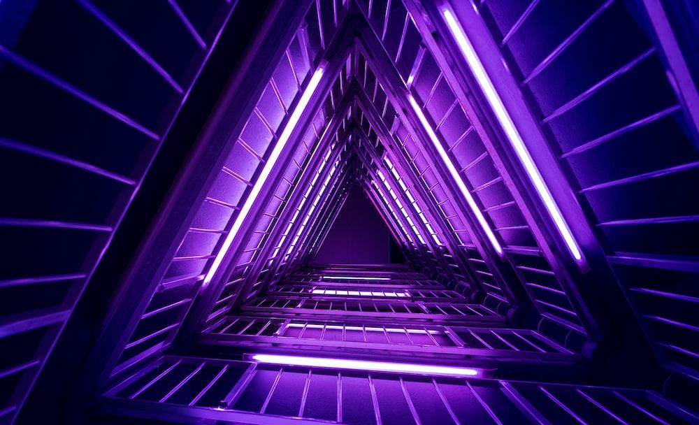purple and black pyramid wallpaper