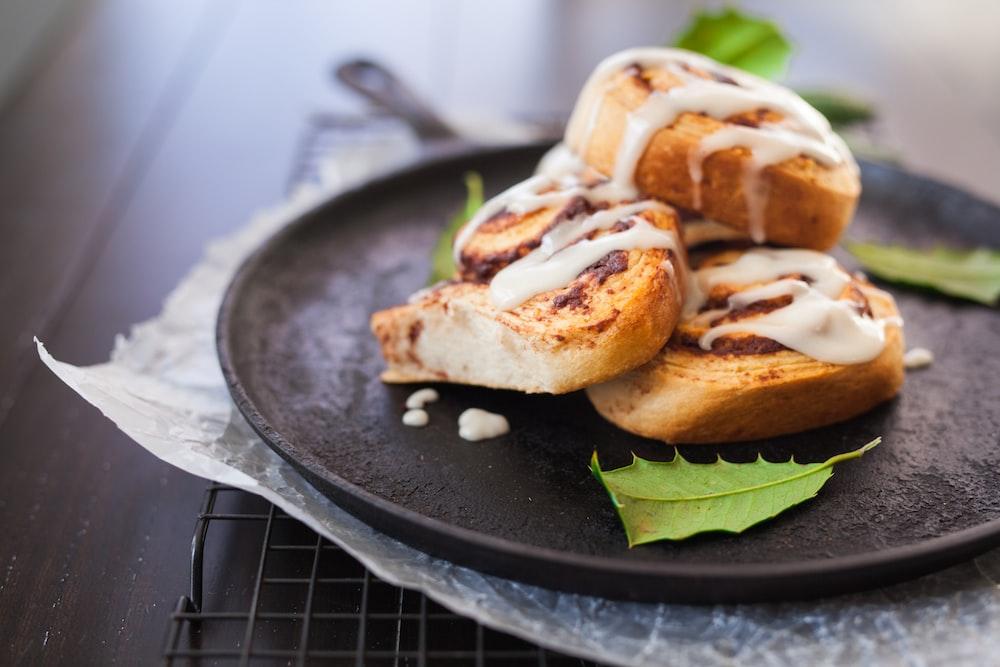 cinnamon bread on skillet