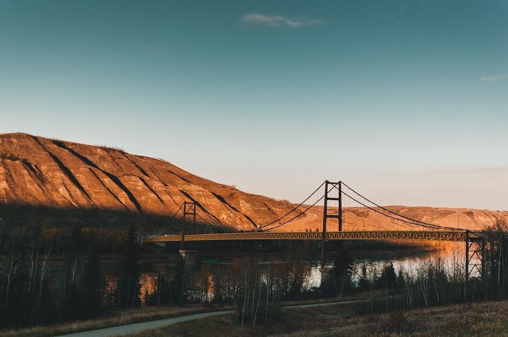 bridge near hill