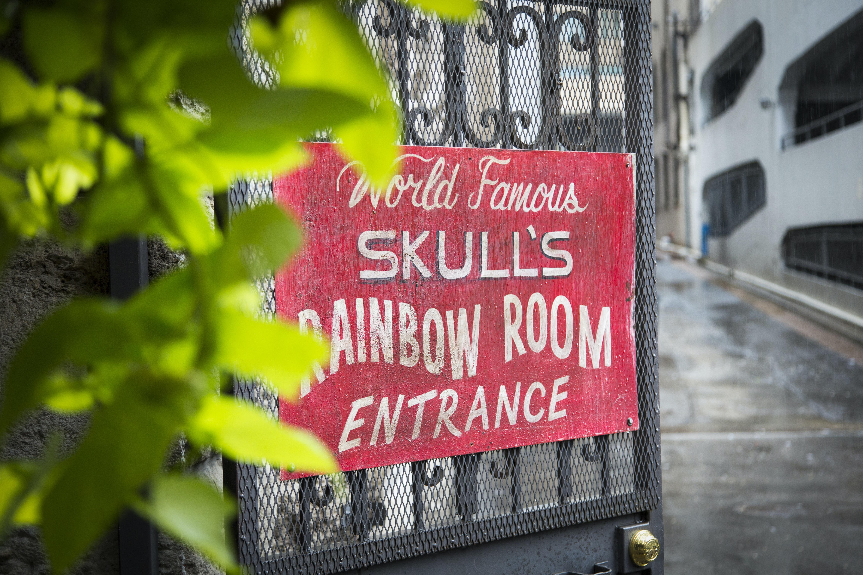 Skull's Rainbow Room signage